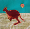 Pattern for book page -  kangaroo