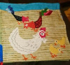 chickens applique