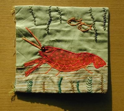 Pattern for book page -  lobster