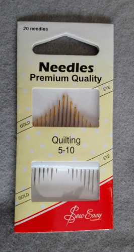 Needles - quilting betweens 5-10 gold eye