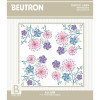 Allium traced linen table topper embroidery kit - Beutron
