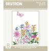 Butterflies in Meadow table topper traced linen embroidery kit- Beutron