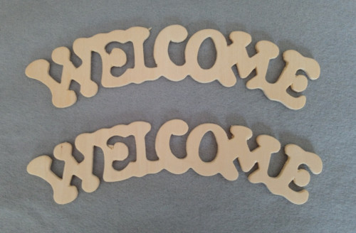 2 plywood welcome cut out words